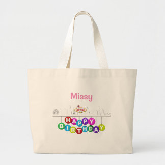 Personalised Las Vegas Birthday Jumbo Tote