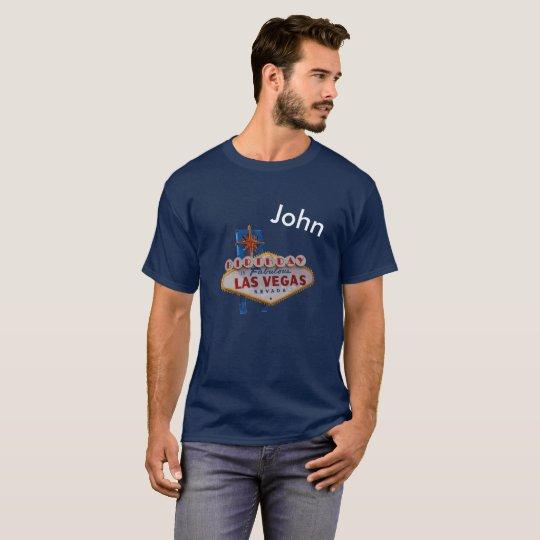 Personalised Las Vegas Birthday Men's Dark T-Shirt