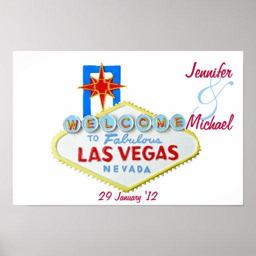 Personalised Las Vegas Commemorative Poster