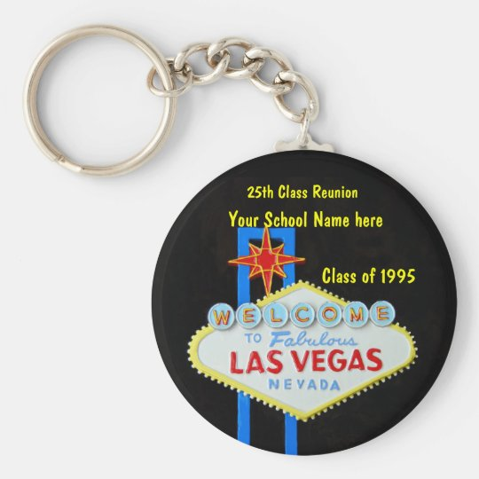Personalised Las Vegas Sign Party Favour Key Ring