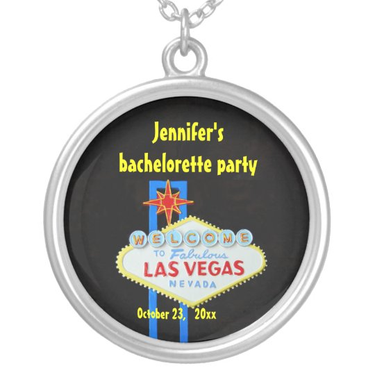 Personalised Las Vegas Silver Plated Necklace