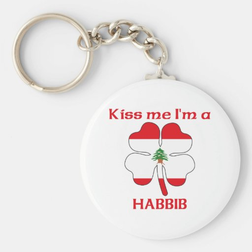 Personalised Lebanese Kiss Me I'm Habbib Basic Round Button Key Ring