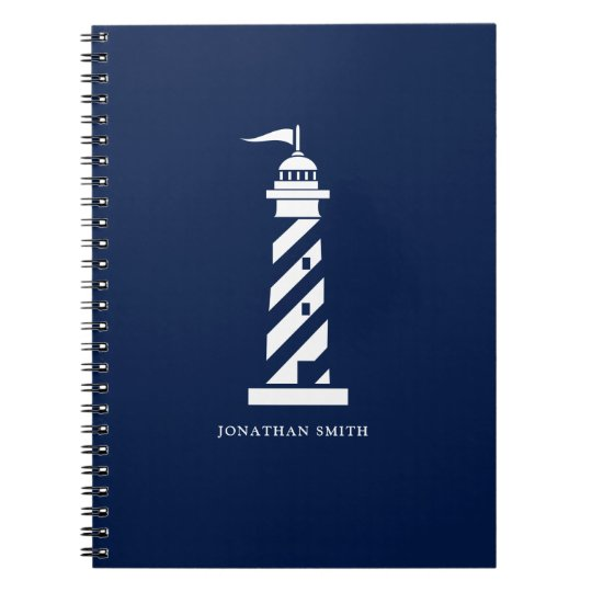 Personalised Lighthouse Spiral Notebook