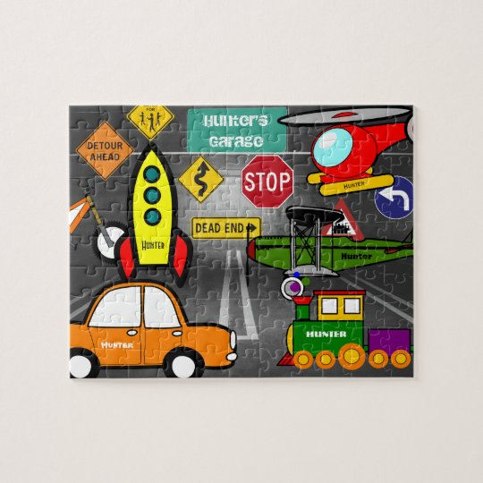 Personalised Lil Child's Dream Garage Jigsaw Puzzle