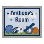Personalised Lil/Little Sports Player Poster/Print Poster
