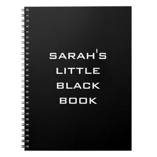 Personalised Little Black Book Notebook