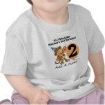 Personalised Little Monkey 2nd Birthday T-shirt