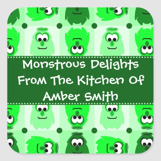 Personalised Little Monster Pattern Labels