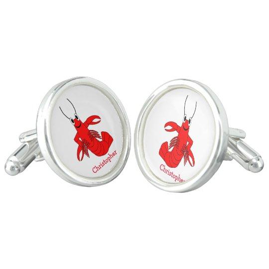 Personalised Lobster Design Cufflinks