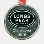 Personalised Longs Peak CO Mountain Ornament