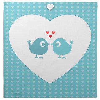 Personalised Love Birds Cloth Napkin