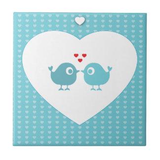 Personalised Love Birds Tile