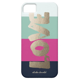 Personalised | Luxe Stripes Case For The iPhone 5