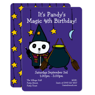 Personalised Magic Birthday Party Invitation