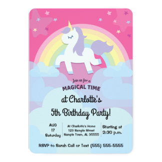 Personalised Magical Unicorn Birthday with Photo Card