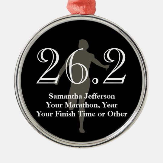 Personalised Marathon Runner 26.2 Keepsake Medal Christmas