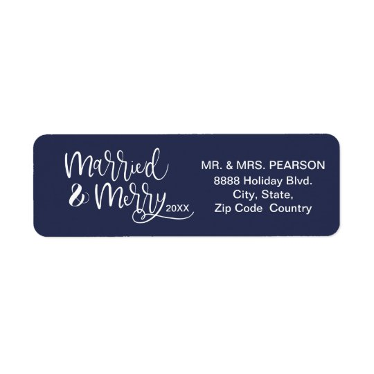 Personalised, Married and Merry, First Christmas
