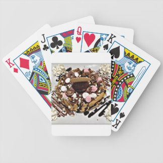 Personalised Marshmallow and Chocolate Cake Bicycle Playing Cards