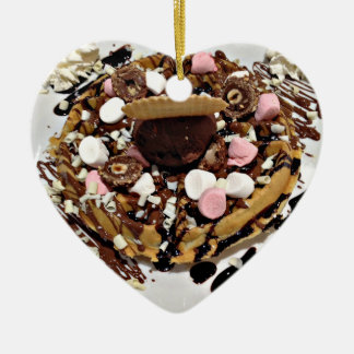 Personalised Marshmallow and Chocolate Cake Christmas Ornament