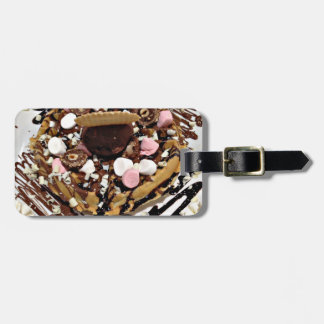 Personalised Marshmallow and Chocolate Cake Luggage Tag