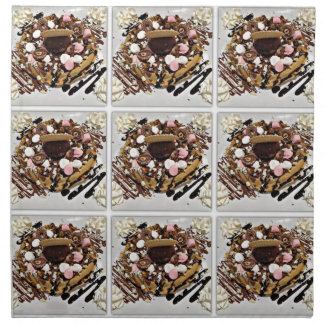 Personalised Marshmallow and Chocolate Cake Printed Napkins
