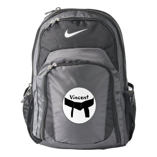 Personalised Martial Arts Black Belt Backpack