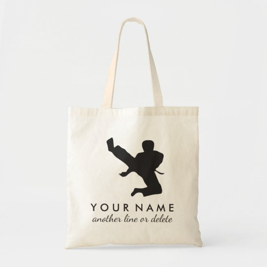 Personalised Martial Arts Karate Custom Name Text Tote