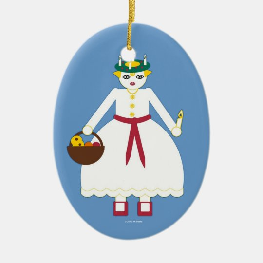 Personalised Martzkin St. Lucia Day Ornament