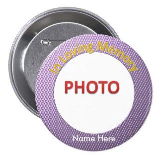 Personalised Memorial Photo 7.5 Cm Round Badge