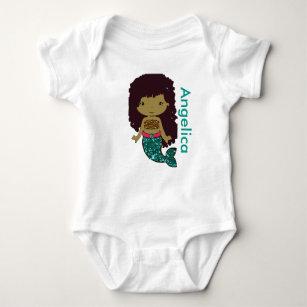 Personalised Mermaid Baby One Piece Tshirt