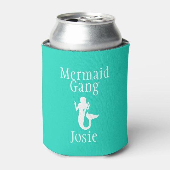 Personalised Mermaid Gang Can Cooler