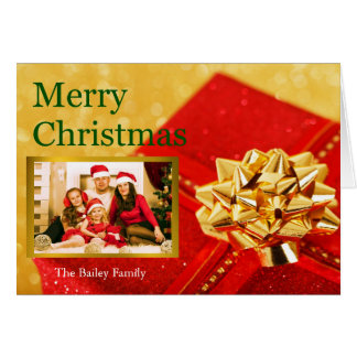 Personalised Merry Christmas Family Portrait Card