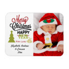 Personalised Merry Christmas Happy New Year Photo Magnet