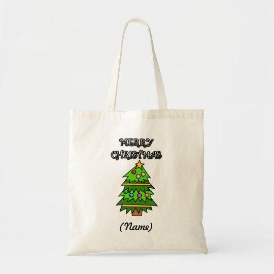 Personalised Merry Christmas Presents Bag