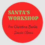 Personalised Message from Santa Claus Round Sticker