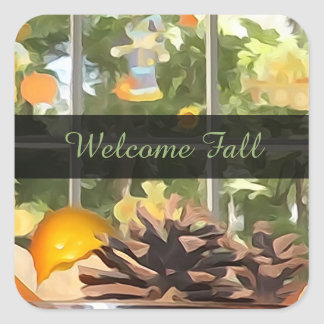 Personalised Message: Welcome Fall Stickers