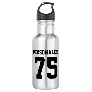 Personalised metal water bottles for sports teams