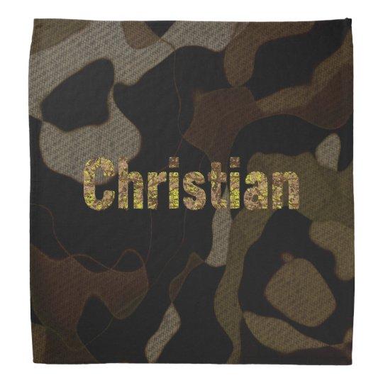 Personalised Military Camouflage Font Christian Bandana