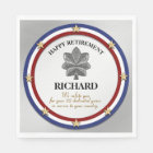 Personalised Military Retirement Party Disposable Serviette