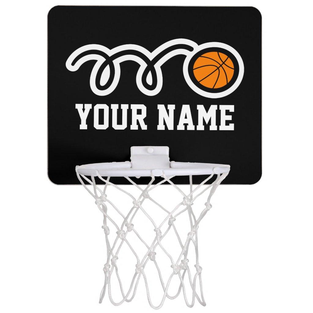 Personalised mini basketball hoop with custom name