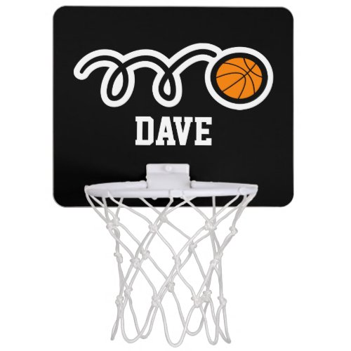 Personalised mini basketball hoop with custom name