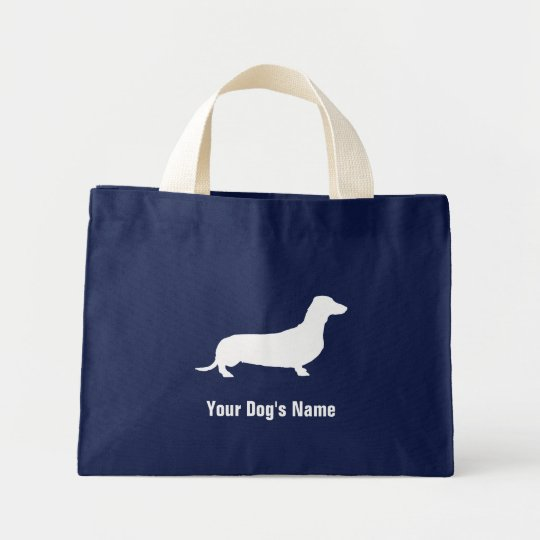 Personalised Miniature Dachshund ミニチュア・ダックスフンド Mini Tote Bag