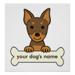 Personalised Miniature Pinscher Poster