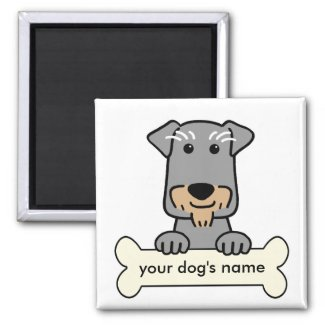 Personalised Miniature Schnauzer Magnet