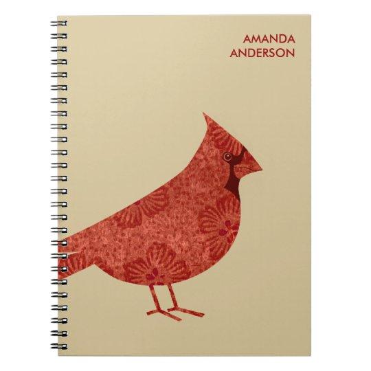 Personalised Modern Cardinal Journal / Notebook