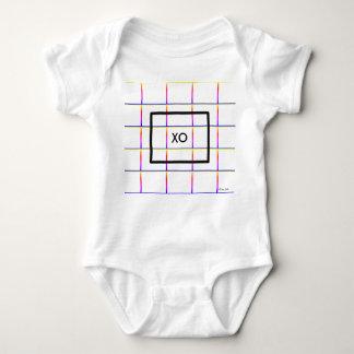 Personalised Modern Check Window Pane Pattern Baby Bodysuit