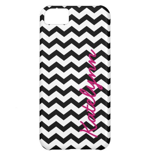Personalised Modern Chevron Zigzag iPhone 5 Case