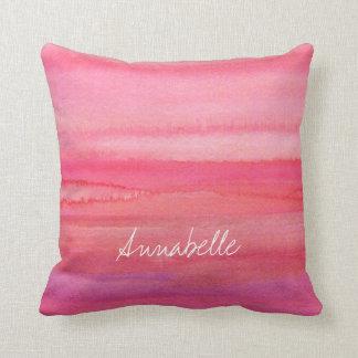 Personalised Modern Pink Rose Cushion