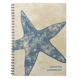Personalised Modern Starfish Notebook