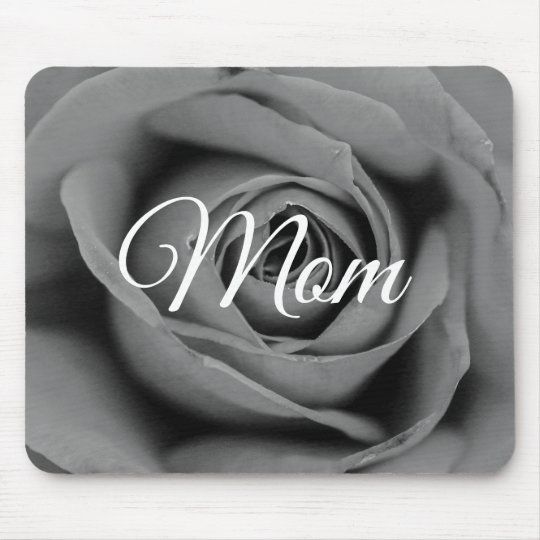 Personalised Monochromatic Mum Rose Mousepad